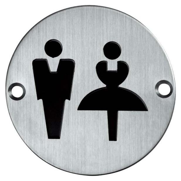 male and female washroom sign
