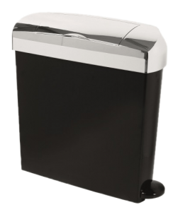 black and chrome sanitary unit