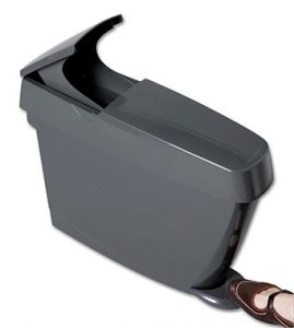 sanitary bin grey with foot pedal